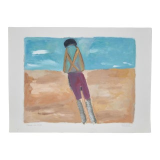 "Arthur Krakower ""Alone in Nice"" Original Painting C. 2005 For Sale"