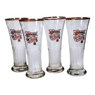 Vintage Hovels Bitter Bier Original Beer Glasses - Set of 4 For Sale