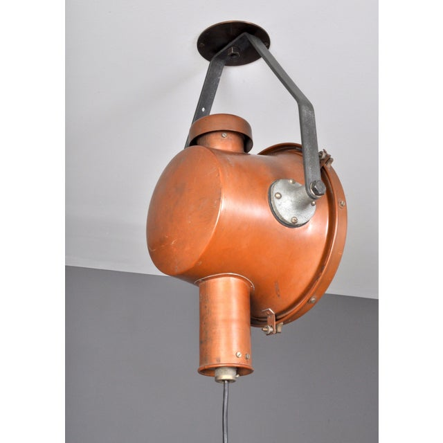 Industrial Bag Turgi Copper Lantern, Switzerland 1940s For Sale - Image 3 of 13