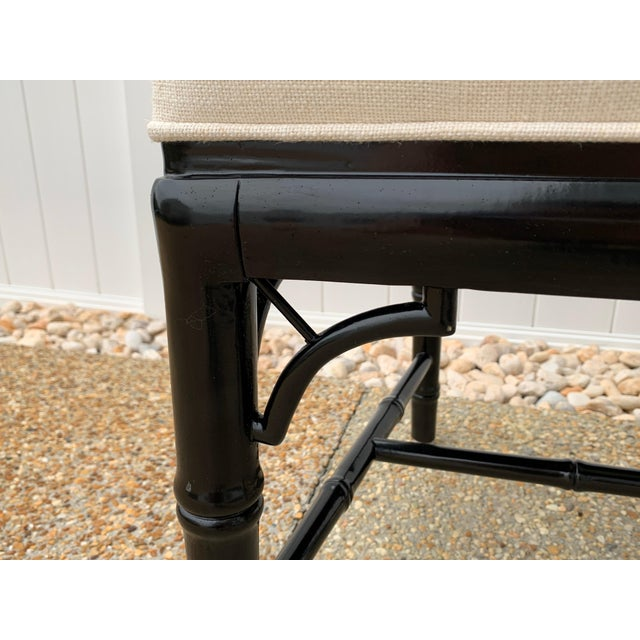 Jonathan Adler Black Lacquered Faux Bamboo Chippendale Chairs, Pair For Sale - Image 9 of 13
