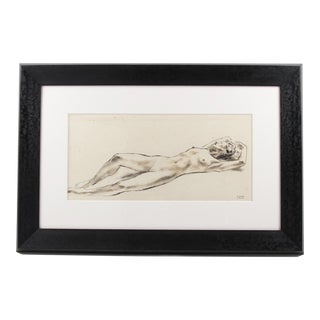 Nude Study Ink Wash Drawing Painting by Robert Cami For Sale