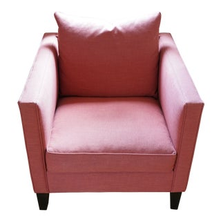 West Elm Coral Arm Chair For Sale