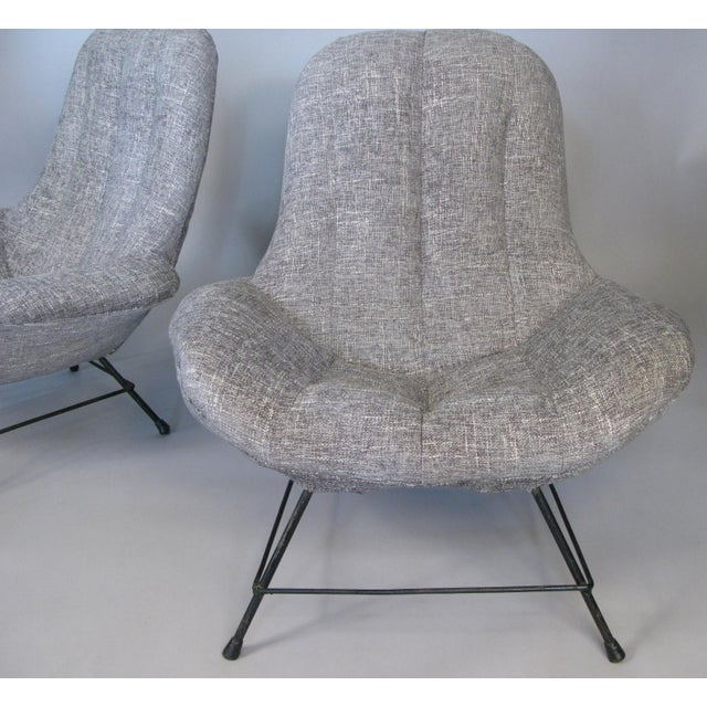1950s Italian Lounge Chairs- A Pair For Sale - Image 4 of 8