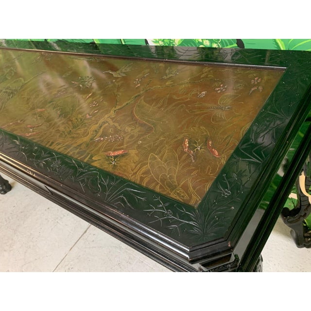 Intricate Carved Elephant Table in the Manner of Gampel Stoll For Sale - Image 12 of 13