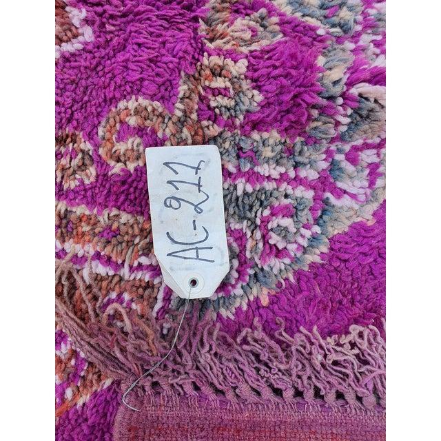 Textile Beni Mguild Purple Rug For Sale - Image 7 of 8