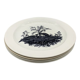 Early 20th Century Antique Wedgwood Liverpool Birds Dinner Plates - Set of 4 For Sale