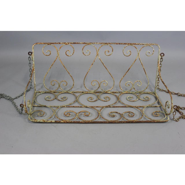 1880 English Iron Garden Swing For Sale - Image 4 of 7