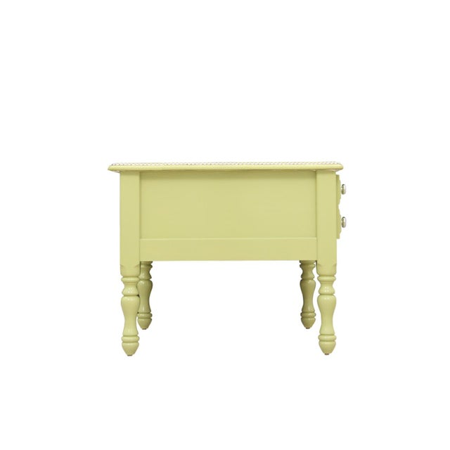 Mission Avenue Studio 1980s Cottage Green End Tables - a Pair For Sale - Image 4 of 7