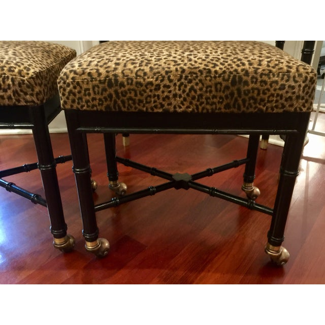 Hekman Faux Bamboo Sofa Table Amp Benches Set Of 3 Chairish