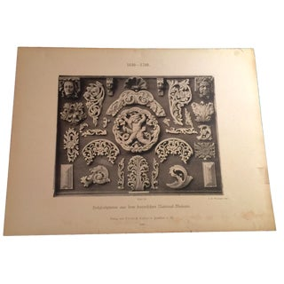 Keller 1895 Architectural Elements Print For Sale