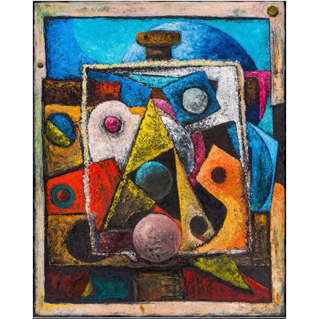 """2018 United States Wolfgang S Jasper's Neo-Expressionist Painting """"Easel Painting"""" Oil & Wax on Board For Sale - Image 4 of 4"""