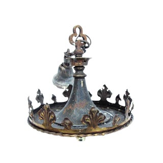Bronze Gothic Hanging Pendant Light For Sale