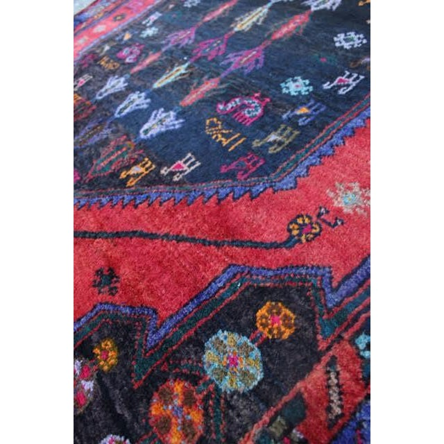 "Vintage Persian Zanjan Rug - 5'4"" x 8'10"" - Image 6 of 9"