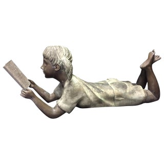 Italian Bronze Figure of a Little Girl For Sale