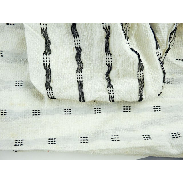 French Vintage Mission Valley Mills Cotton Pique - 2+ Yards For Sale - Image 3 of 7