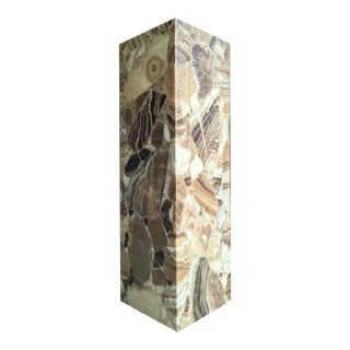 Arturo Pani for Muller of Mexico Onyx Stone Pedestal For Sale