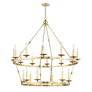 Allendale 20 Light Chandelier - Aged Brass Preview