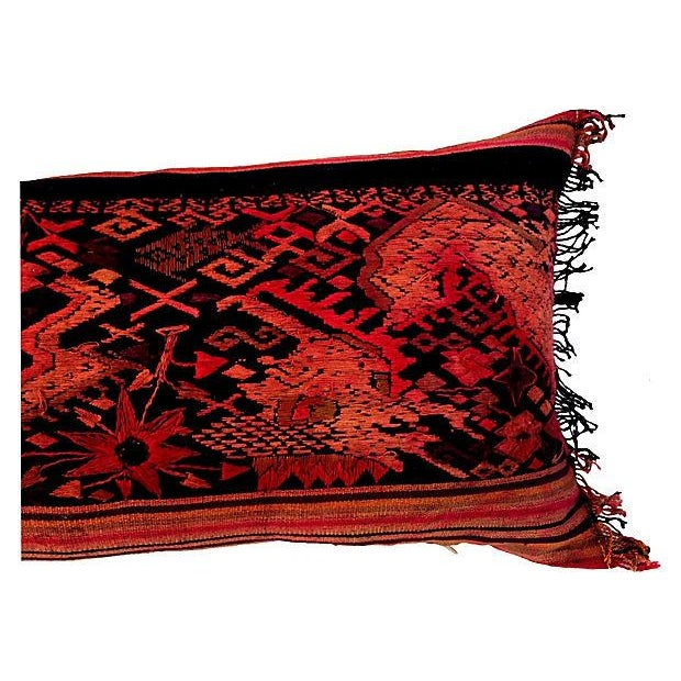 Embroidered Thai Silk Dragon Pillow - Image 5 of 5