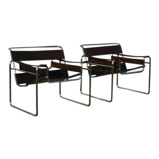 1980s Vintage Wassily for Fasem Italy Model B3 Chair - a Pair For Sale