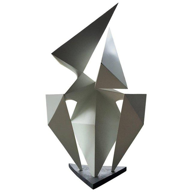 Vintage Abstract Origami Sculpture by Artist Edward D Hart For Sale - Image 11 of 11