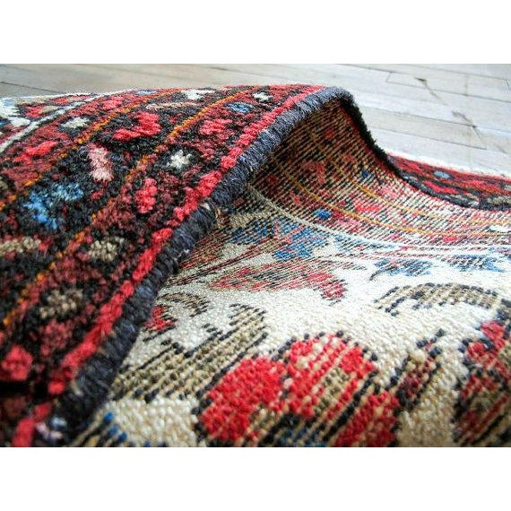 "Vintage Persian Bohemian Rug - 1'10"" x 3'1"" - Image 5 of 6"