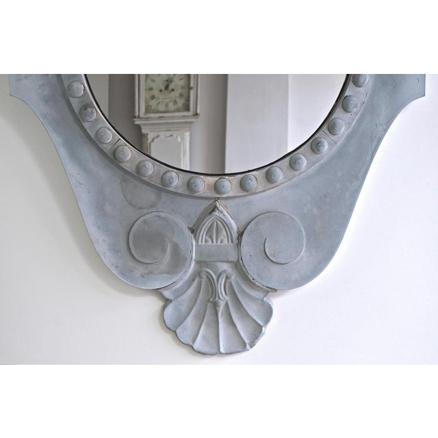 Late 19th Century Magnificent Oeil De Boeuf Mirror From the Old Courthouse in Antwerp Dated 1871 For Sale - Image 5 of 8