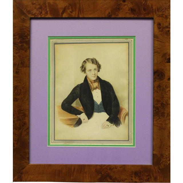 Young Gentleman Watercolor For Sale