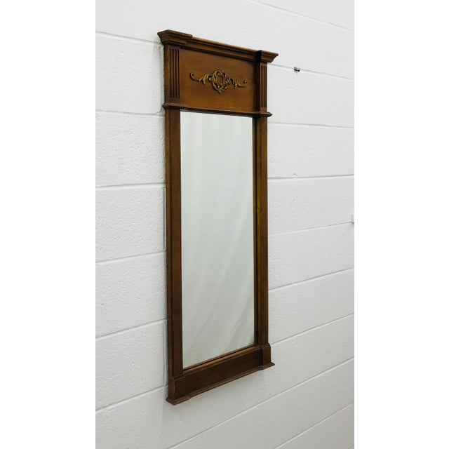 Art Deco Vintage French Style Mirror For Sale - Image 3 of 7