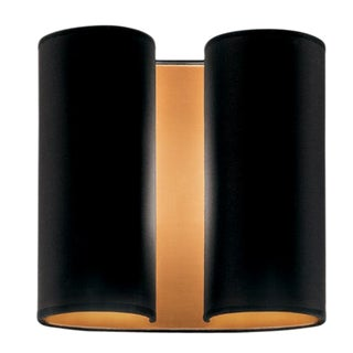 Brushed Copper Wall Sconce With Satin Black For Sale