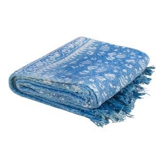 Azura Indigo Batik Throw For Sale