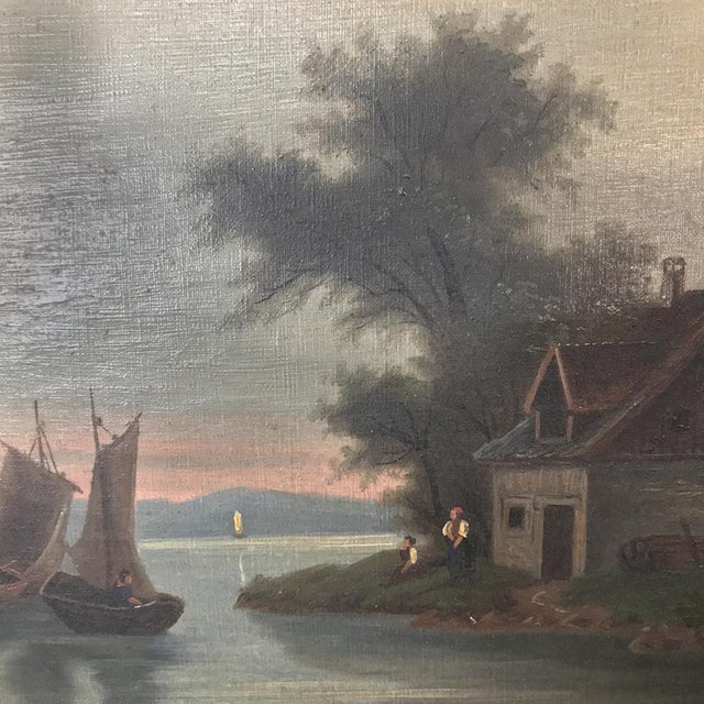 Pair 19th Century Framed Oil Paintings on Canvas For Sale In Dallas - Image 6 of 13