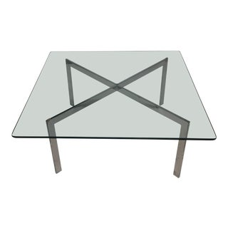 Mid-Century Modern Glass & Chrome Coffee Table