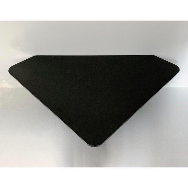 Vintage Modern Sculptural Black Marble Coffee Table For Sale - Image 4 of 6