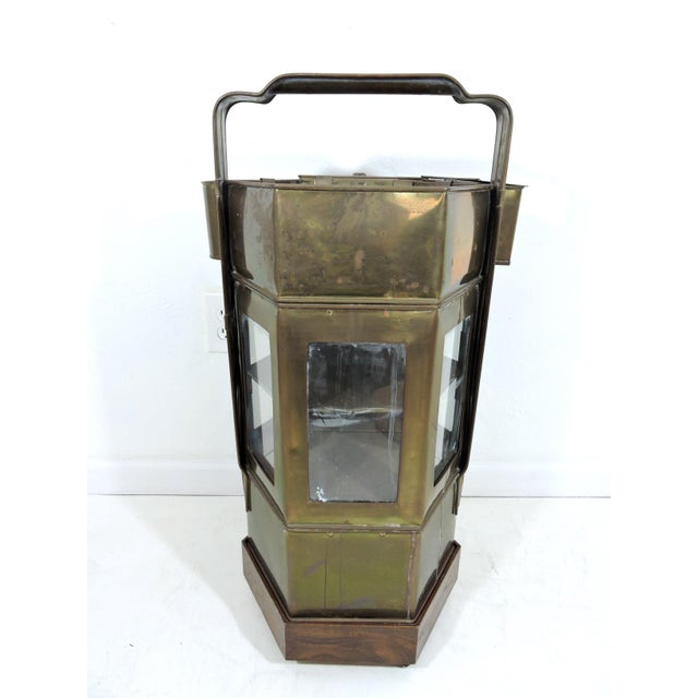 Vintage Chinese Hawkers Brass Food Cart With Stand For Sale - Image 4 of 6