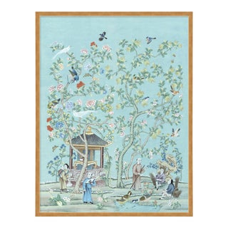 The Tea Garden by Paul Montgomery in Gold Frame, Large Art Print For Sale