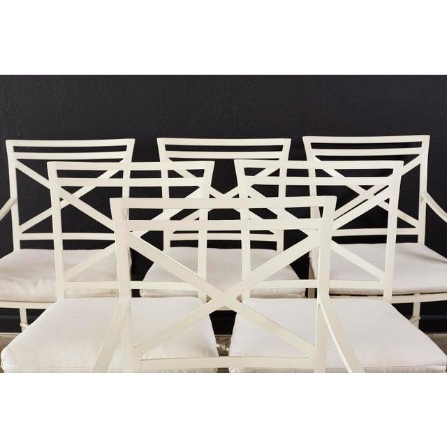 Neoclassical Set of Six Brown Jordan Aluminium Patio Garden Chairs For Sale - Image 3 of 13