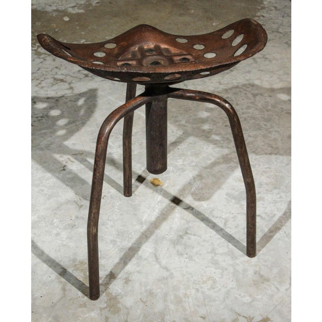 1940s Set of Four Mid-Century Industrial Swivel Chairs on Tripod Legs From Belgium For Sale - Image 5 of 7