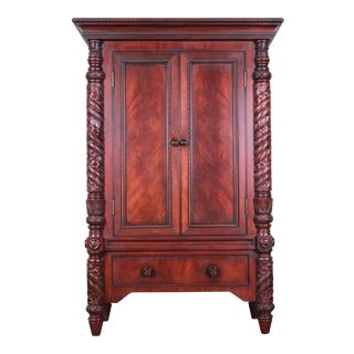 Ralph Lauren Safari Collection Mahogany Armoire Dresser For Sale