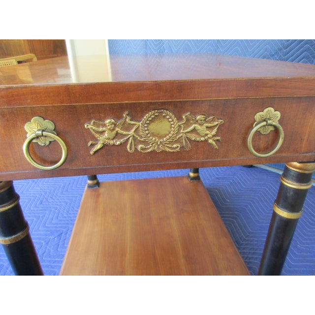 Fine Arts Furniture Side Table With Ornate Cherub Motif For Sale - Image 10 of 13