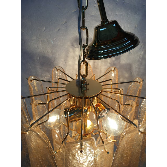 Venini Style Murano Glass Chandelier For Sale - Image 9 of 12