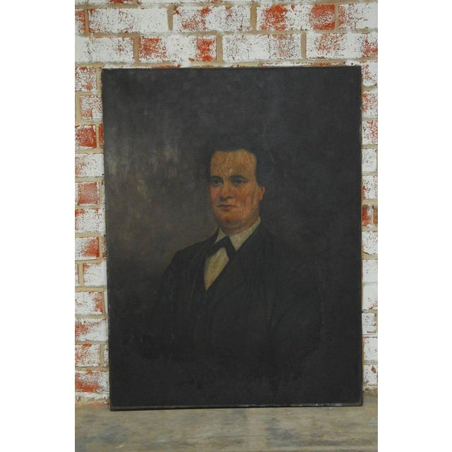 19th Century English Portrait of a Gentleman Oil on Canvas For Sale - Image 4 of 10