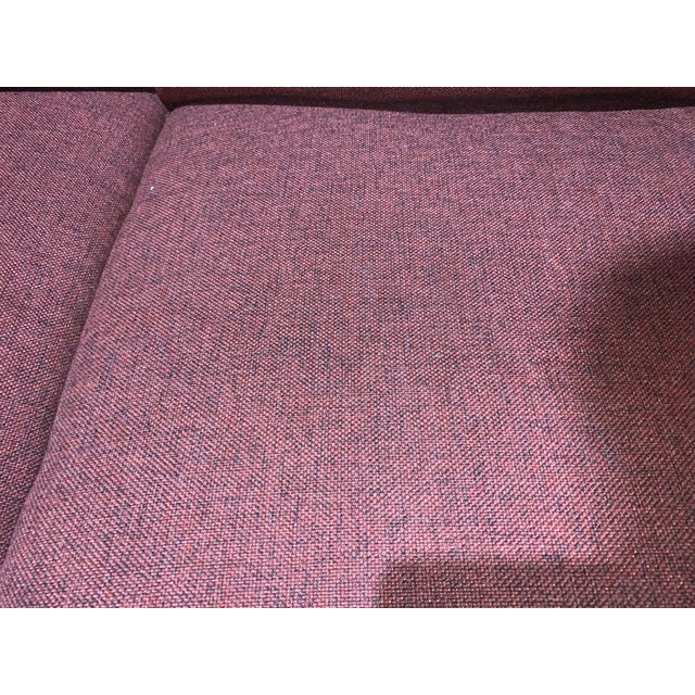 Bassett Furniture Crimson Sofa With Nail-Heads For Sale In Las Vegas - Image 6 of 8