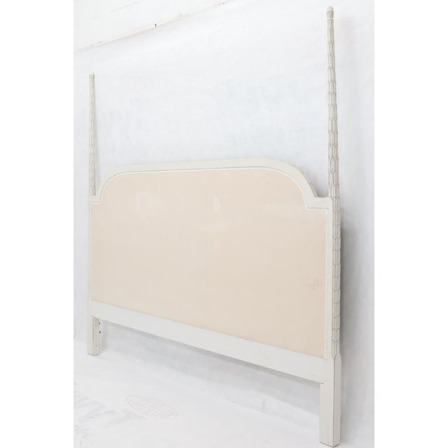 Transitional Upholstered Decorative Black and White Fabric King Size Poster Headboard For Sale - Image 3 of 12