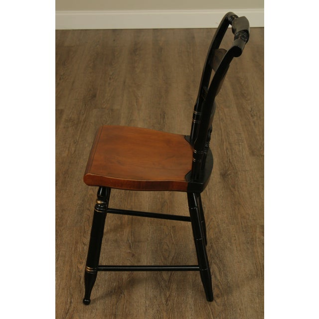 Hitchcock Hitchcock Eagle Painted Black & Maple Side Chair For Sale - Image 4 of 13