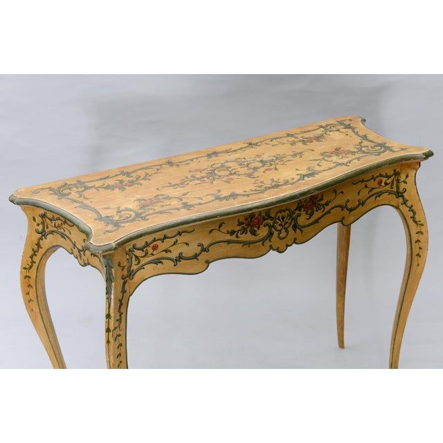 Mid 19th Century Hand Painted 19th Century Console Table For Sale - Image 5 of 11