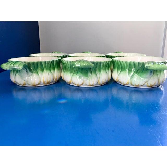 Georges Briard Vintage Georges Briard l'Oignon Soup Bowls- Set of 6 For Sale - Image 4 of 12