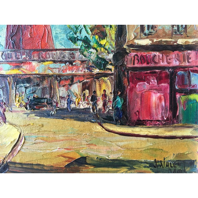 1950s Moulin Rouge Oil Painting - Image 4 of 5