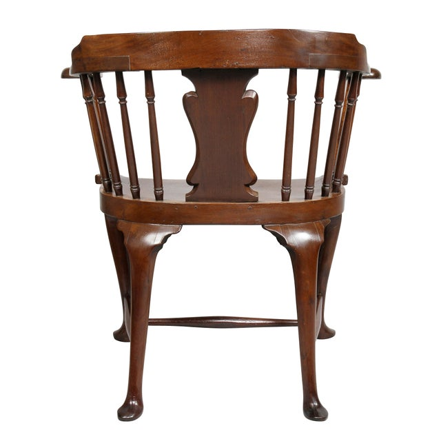 George III Mahogany Captains Armchair For Sale - Image 9 of 10