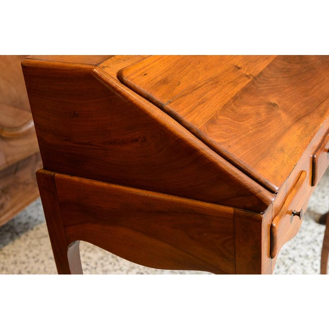 French French Cherry Slant Front Desk For Sale - Image 3 of 9