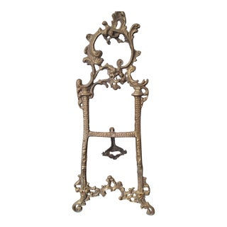 French Bronze Table Easel For Sale